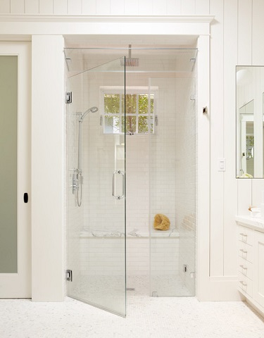 Steam Showers Are The Most Enclosed Type Of Bathroom That's Really Popular This Year, But They Also Offer The Most Authentic Spa Experience (by Rasmussen Construction, photo by John Merkyl)