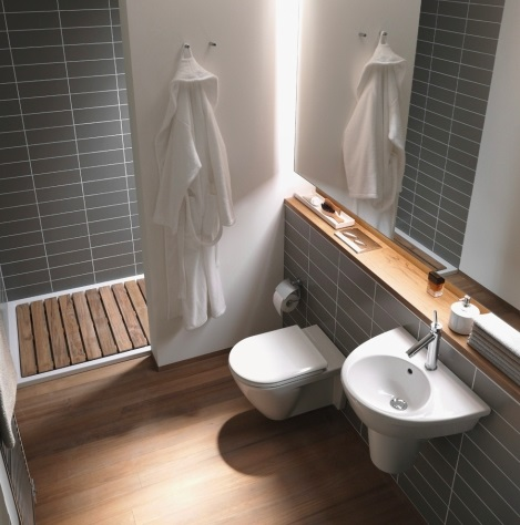 Wall mounted toilets offer a clean, streamlined look and can help save space in a smaller bathroom