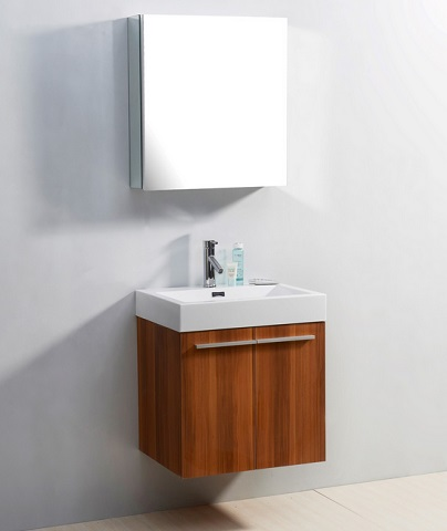 "Midori 24"" Bathroom Vanity In Plum From Virtu USA"