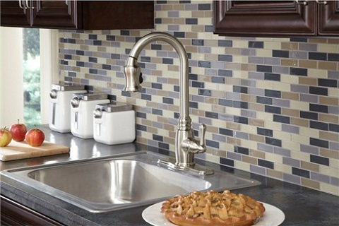 Opulence Single Handle Pull Down Kitchen Faucet With Deck Plate From Danze