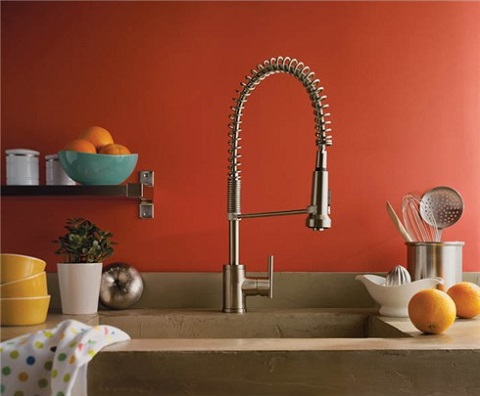 Parma Single Handle Professional Style Kitchen Faucet From Danze