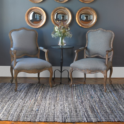 Aberdeen 5x8 Hand Woven Recycled Cotton Rug From Uttermost