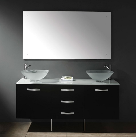 Contempo 63 Double Vanity With Metal Legs From James Martin Furniture