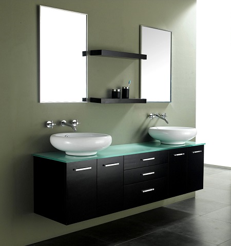 Contempo 72 Double Sink Wall Mounted Bathroom Vanity From James Martin Furniture