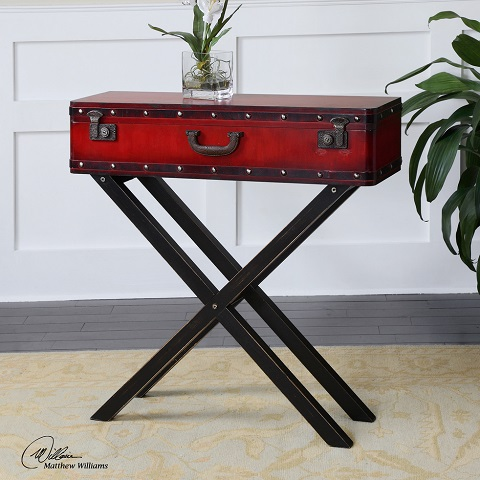 Taggart Red Console Table From Uttermost