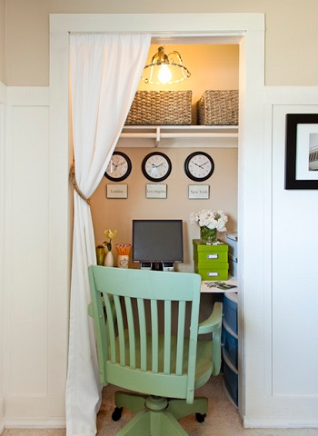 Closing Off A Small Closet With A Simple Curtain Is The Most Compact And  Economical Way