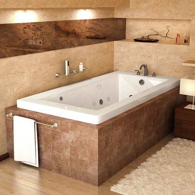 Venetian Rectangular Jetted Bathtub With Inline Heating From Atlantis