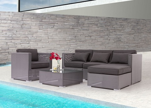 Clear Water Bay Mix And Match Outdoor Sectional Set From Zuo Modern