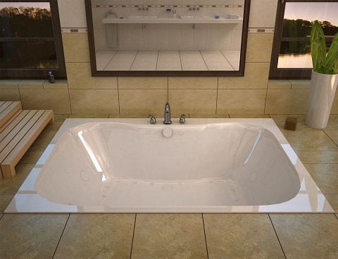 Flora 40x60 Rectangular Air and Whirlpool Jetted Tub VZ4060NDR from Venzi