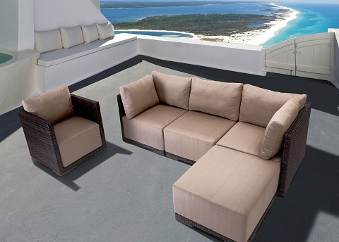 Park Island Outdoor Sectional Set From Zuo Modern