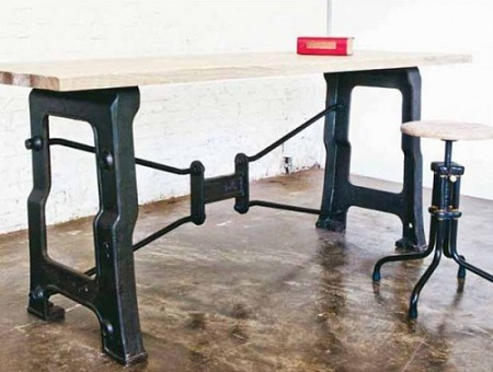 V8 Desk In Weathered Oak From Nuevo Living