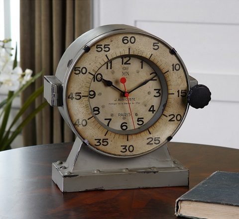 Marine Table Clock From Uttermost 06096