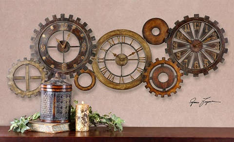 Spare Parts Wall Clock From Uttermost 06788