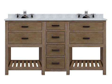 """Toby 60"""" Modular Double Bathroom Vanity With Drawers From Sagehill Designs"""