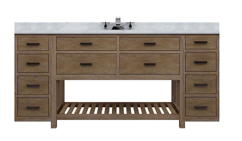 """Toby 72"""" Modular Bathroom Vanity With Drawers From Sagehill Designs"""