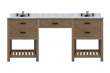 """Toby 72"""" Modular Double Bathroom Vanity With Drawers And Makeup Station From Sagehill Designs"""