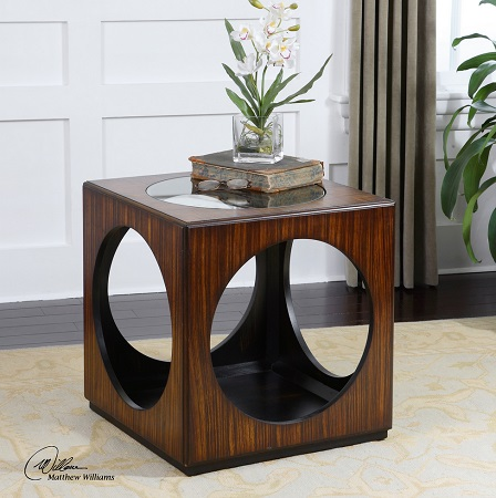 Merveilleux Tura Cube Accent Table From Uttermost 24385