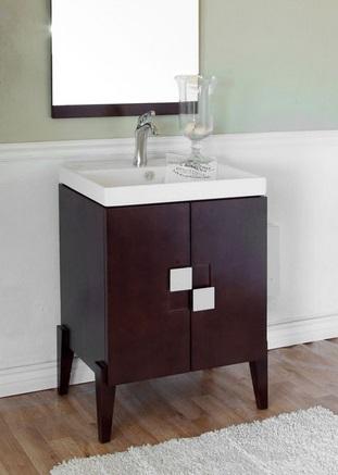 "25"" Single Sink Bathroom Vanity In Walnut 804366 From Bellaterra Home"