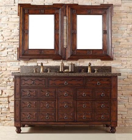"Castilian 60"" Double Bathroom Vanity 160-V60D-ACG From James Martin Furniture"
