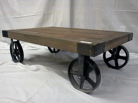 Iron Wheel Coffee Table 111 42 From Clic Design
