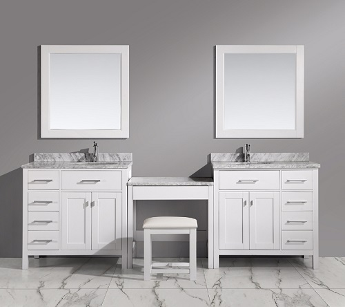 "London 36"" Vanity Set Wtih Make Up Table from Design Element"