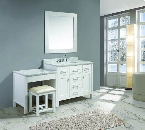 "London 42"" Vanity Set With make Up Table from Design Element"