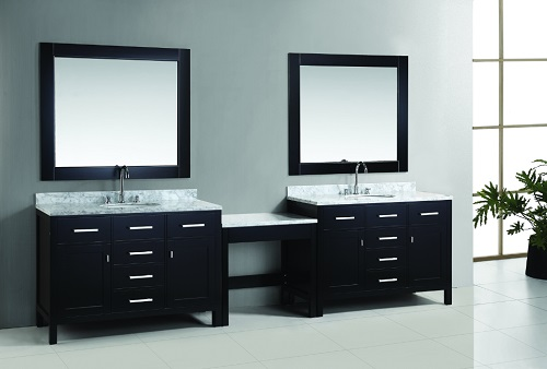 "London 48"" Vanity Set With Make Up Table From Design Element"