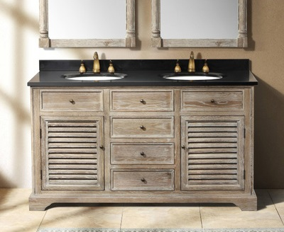 "Savannah 60"" Double Bathroom Vanity In Driftwood From James Martin Furniture 238-104-"