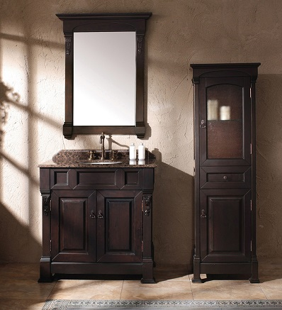 brookfield 35 single bathroom vanity with cabinet 147 114 5561 from james martin - Bathroom Linen Cabinets