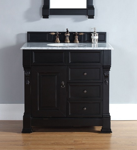 """Brookfield 35"""" Single Vanity In Antique Black 147-114-5536 From James Martin Furniture"""