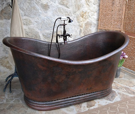 Essex Copper Freestanding Bathtub SC-ESX-66 From Sierra Copper