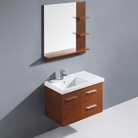 "Moderna Trio 31"" Single Bathroom Vanity With Mirror VG09033118K From Vigo Industries"