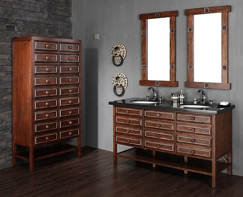 """Tacoma 60"""" Double Bathroom Vanity With Cabinet 350-V60D-SWS from James Martin Furniture"""