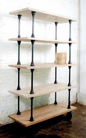 V21 5-Tier Shelving Unit In Weathered Oak HGDA137 From Nuevo Living