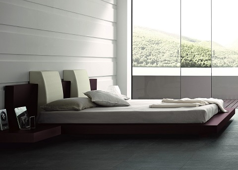 Win Floating Contemporary Platform Bed T2666BBD53206 from Rossetto