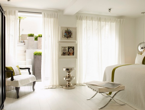 Being able to open your master bedroom onto an outdoor space is a great way not only to add light, but to make the room feel much larger than it really is (by Kelly Hoppen London)