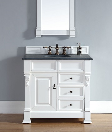 "Brookfield 35"" Single Bathroom Vanity In Cottage White 147-114-5546 From James Martin Furniture"