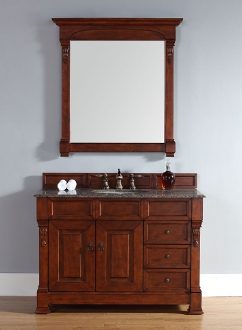 "Brookfield 48"" Single Bathroom Vanity In Warm Cherry 147-114-5286 from James Martin Furniture"