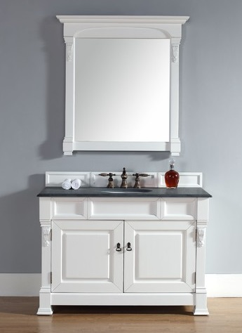 "Brookfield 48"" Single Vanity In Bosco Antique White 147-114-5241 From James Martin Furniture"