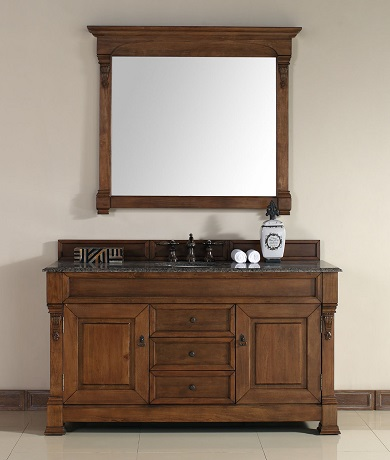 "Brookfield 60"" Single Bathroom Vanity In Country Oak 147-114-5371 from James Martin Furniture"