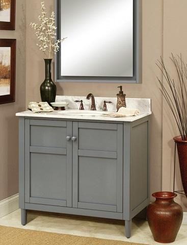 "Haper 36"" Bathroom Wood Vanity Cabinet HP3621D From Sagehill Designs"