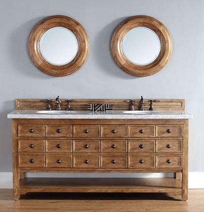"Malibu 72"" Double Bathroom Vanity 500-V72-HON from James Martin Furniture"