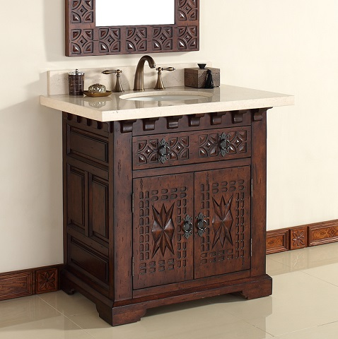 "Monterey 36"" Single Bathroom Vanity 170-V36-ANB from James Martin Furniture"