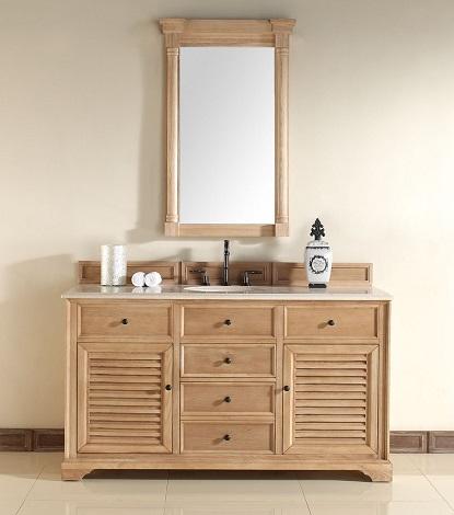"Savannah 60"" Single Bathroom Vanity In Natural Oak 238-104-5321 From James Martin Furniture"