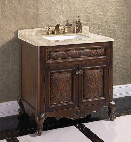 "Thailand Oak 36"" Single Bathroom Vanity WB-1536L from InFurniture"