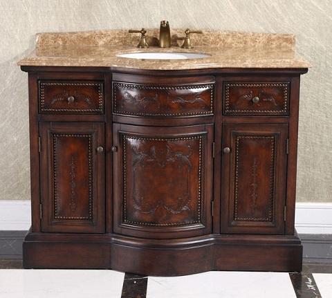 "Thailand Oak 48"" Single Bathroom Vanity WB-2848L from InFurniture"