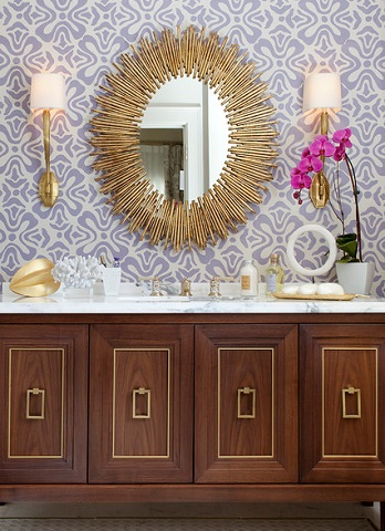 A decorative mirror with a really stunning frame can add a major wow factor to a well designed bathroom (by Artistic Designs for Living, Tineke Triggs)