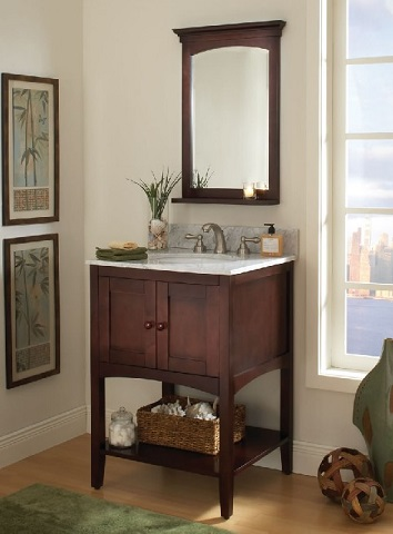 "Allure 24"" Bathroom Vanity With Open Shelf al2421 from Sagehill Designs"