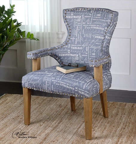 Citographie Gray Linen Armchair 23168 from Uttermost