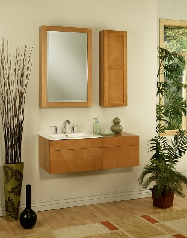 "Lincoln Street 24"" Wall Mount Maple Wood Bathroom Vanity Cabinet LS2418D from Sagehill Designs"